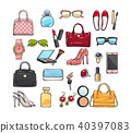 Collection of Fashion Accessories. Women Things 40397083