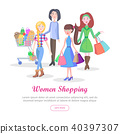 woman shopping vector 40397307