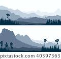 glade, wood, hills 40397363