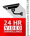 Video surveillance sticker 40398119