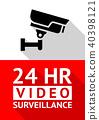 Video surveillance sticker 40398121