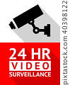 Video surveillance sticker 40398122