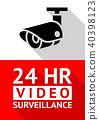 Video surveillance sticker 40398123