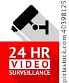 Video surveillance sticker-06.eps 40398125