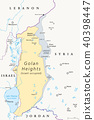 Golan Heights political map 40398447