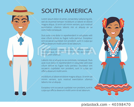 South America Culture, Customs Vector Illustration 40398470