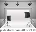 Vector empty photo studio with equipment 40399939