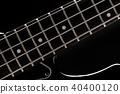 Bass guitar on black 40400120