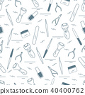 Seamless pattern with variety tools for manicure 40400762