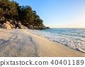 Marble beach. Thassos Islands, Greece 40401189