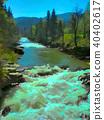 Waterfall in Yaremche 40402617