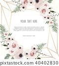Vector floral design card.  40402830