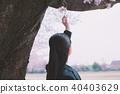 高中生 樱花 樱桃树 40403629