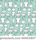 Cute Animal Pattern Background.  40403897