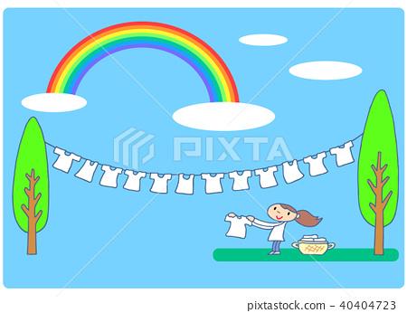 laundry day, laundry, drying rack 40404723