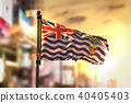 British Indian Ocean Territory Flag Against City  40405403