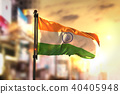 India Flag Against City Blurred Background 40405948