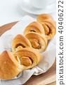 培根和蝦 麵包 食物 40406272