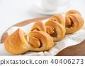培根和蝦 麵包 食物 40406273
