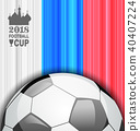 Football Championship Banner, Russia 2018, Sport Background 40407224