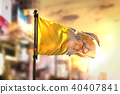 Vatican City Flag Against City Blurred Background 40407841