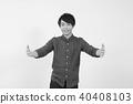 年輕人 休閒 笑容 40408103