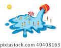 summer, bucket, water 40408163