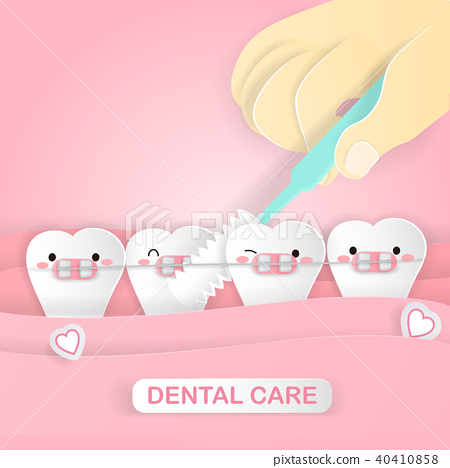 cute cartoon tooth 40410858