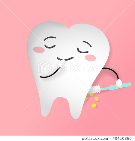 tooth with brush 40410860