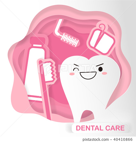cartoon dental care concept 40410866