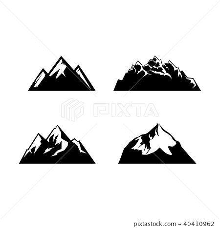 Camping Symbols Abstract High Mountain Icon Set Stock Illustration 40410962 Pixta Available in png and vector. https www pixtastock com illustration 40410962