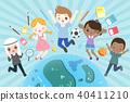 cartoon diverse children 40411210