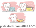 cartoon tooth with senstive problem 40411225