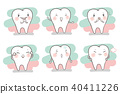 tooth with different emotion 40411226