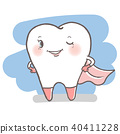 tooth with dental care 40411228