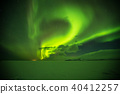 Time lapse of beautiful aurora borealis northern light in Iceland 40412257