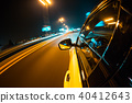Car driving at night city 40412643