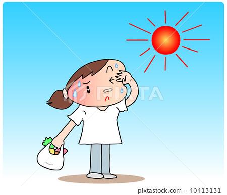 midsummer, summer, very hot day 40413131