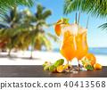 Summer drinks on beach 40413568