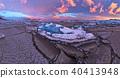 Time lapse of beautiful iceberg lagoon in Jokulsarlon with frozen floes 40413948
