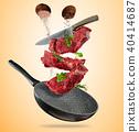 pan, raw, steak 40414687