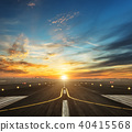 airport runway in the evening sunset light 40415568