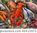 Many kind of seafood, served on crushed ice 40415675