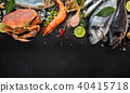 Many kind of seafood, served on crushed ice 40415718