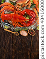 Many kind of seafood, served on crushed ice 40416000