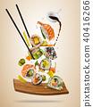 sushi, motion, oriental 40416266