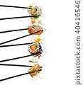 chopsticks, japanese, motion 40416546