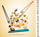 sushi, background, color 40416588
