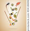 background, chopsticks, fly 40416606