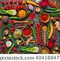 Collection of fresh vegetables on stone 40416947